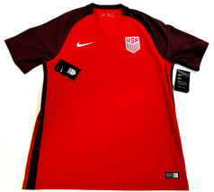 new NIKE USA men shirt jersey dri-fit soccer 832476 red L MSRP $90 - $40.99