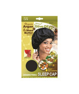 Qfitt Argan Olive Oil Shea Butter Drawstring Sleep Cap Wig Night Hair #8... - $5.89
