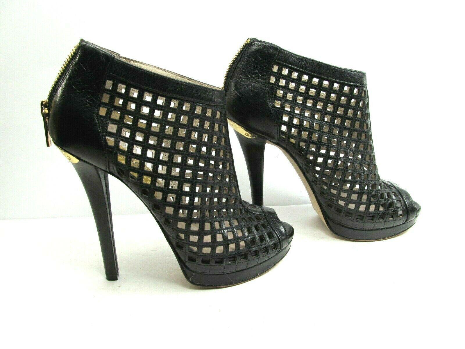 Michael Kors Womens Peep Toe Stilettos Platforms With Cutouts Size US 6 M