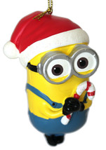 Dave- Despicable Me-Minion Ornament-Santa Hat and Candy Canes-Holiday! - $8.81