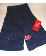 Ladies Women's Long Anne Klein Quilted Navy Scarf, O/S - $43.07