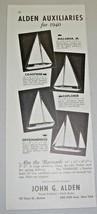 1940 Print Ad Alden Auxiliaries Sailboats 4 Models John G Alden Boston NY - $12.06