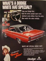 1969 Dodge Dart red with black hardtop White Hat Special Print Ad - $9.99