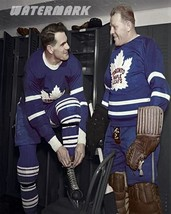 1949 Toronto Maple Leafs Sly Apps & Turk Broda in  Dressing Room 8 X 10 ... - $9.99