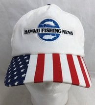 Hawaii Fishing News Patriotic Fight for right to fish White Baseball Hat... - $27.71