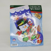 Design Works Felt Applique Christmas Stocking Kit SNOWMAN & CARDINALS 5231 - $21.77