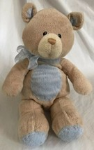 Baby Gund Blue Bear Tales Collection Tan Soft Plush Teddy Bear 58651 Nur... - $14.99
