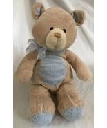 Baby Gund Blue Bear Tales Collection Tan Soft Plush Teddy Bear 58651 Nur... - $14.84