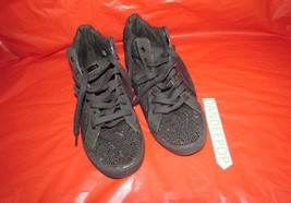 G by Guess GG Mistah Black Sparkle Sneaker Shoes Womens 9.5 M #235 - $33.65