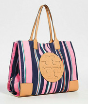Tory Burch Nylon Printed ELLA TOTE ~NWT~ Canyon Stripe Vertical - $193.05