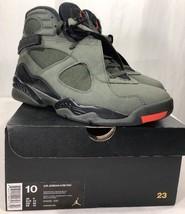 Nike Air Jordan Retro 8 VIII Sequoia Men's 10 w Box Undefeated Aqua Bred - $179.99