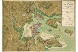 Revolutionary War Map, Boston; Lines of British & American Armies; 1775; 1 of 2 - $26.72+
