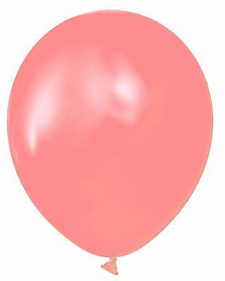 """72 Latex Balloons 12"""" With Clips and Curling Ribbon- 36 Coral & 36 peach"""