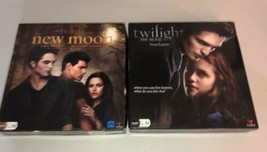 Twilight The Movie and New Moon Board Game LOT Of 2 Complete Cardinal 13+ Fam - $34.99
