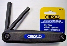 Chesco 98015 5pc. Fold-Up Hex Keys USA 4mm to 10mm - $4.46