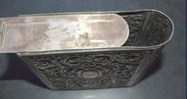 Judaica Vintage Silver Filigree Tzedakah Charity Box Book Design image 9