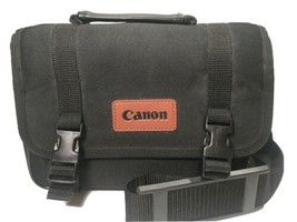 Vintage Canon Camera Bag Black Medium Size Gear Bag EUC FREE SHIPPING - $24.70