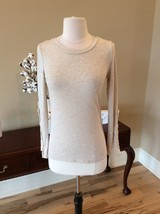 Natural Beige Top Long Sleeve Rue21 New Crochet Lace Sleeve Shirt - $12.99