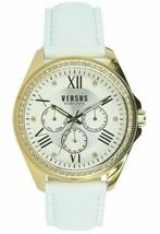 Brand New Versace Versus VSPEB0318 Elmont Swarovski White Leather Women's Watch - $148.49