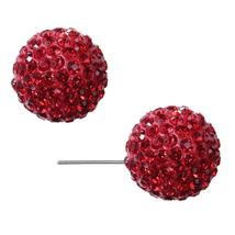 Red Large Fireball Stud Earrings - $13.22
