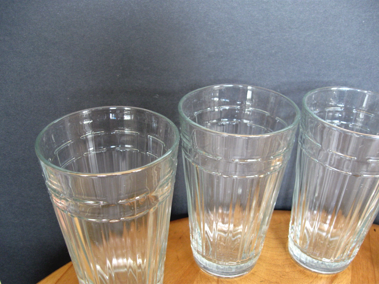 Longaberger Glass - Woven Traditions - 16-oz. Flat Tumbler - Four (4) Available