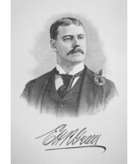 EDWARD GREEN England Born New York Railroad Capitalist - 1895 Portrait P... - $12.60