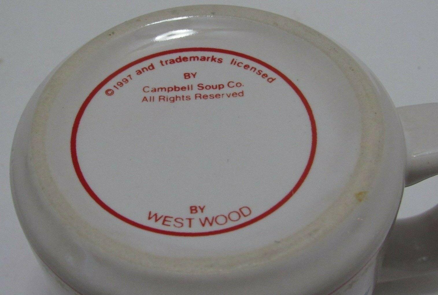 Vintage1997 Ceramic Campbell's Chicken NoodleSoup bowlmug cup  Westwood