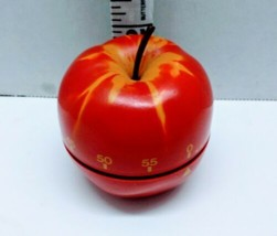 VINTAGE Red Apple Kitchen Timer School Classroom Teacher up to 60 Minutes - $12.86