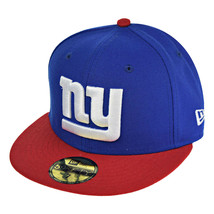 New Era New York Giants NFL 59Fifty Men's Fitted Hat Cap Blue-Red-White - £28.06 GBP