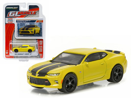 2016 Chevrolet Camaro SS Bright Yellow 1/64 Diecast Model Car by Greenlight - $13.18