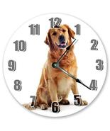 "Sugar Vine Art 10.5"" GOLDEN RETRIEVER DOG CLOCK - Large 10.5"" Wall Clock... - $21.59"