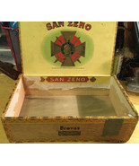OLD San Zeno Wooden Cigar Box - $9.49