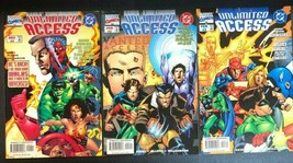 UNLIMITED ACCESS run of (3) issues as shown (1997/1998) DC & Marvel Comics FINE- - $14.84