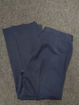 ANNE KLEIN Blue Stretchy Straight Leg Polyester Dress Pants Size 6 3950A - $25.69