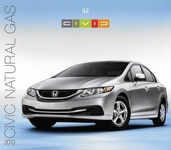 2013 Honda CIVIC Natural Gas sales brochure catalog NGV 13 US CNG - $9.00