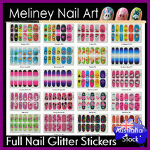 Full Nail Art Glitter Wraps Stickers Cartoon Pattern Animals gradient sn... - $3.54+