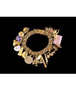 Vintage Gold filled Charm Bracelet - movable typewriter - gold sterling ... - $285.00