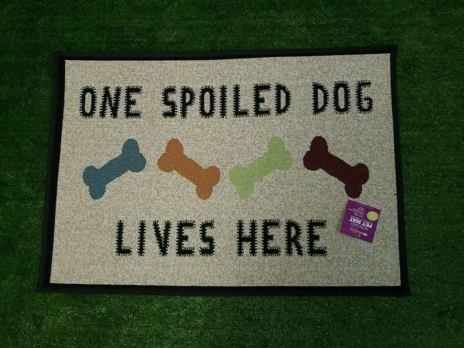 "Primary image for One Spoiled Dog Jumbo Tapestry Feeding Placemat 28"" x 18""  Machine Washable"