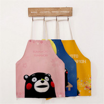 Cartoon Bear Apron Cotton Linen Pinafore Kitchen Cooking Adult Child Wea... - $6.73+