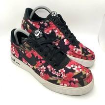 2014 Nike Air Force 1 AC Floral Sz 7Y = Women's 8.5 Black Hot Pink 67762... - $54.40