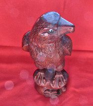 Vintage Rosewood Carving, American Eagle. Carved from a Single Piece of ... - $14.85