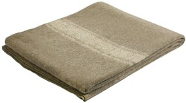Khaki Italian Army Type European Surplus Style Wool Blanket - $34.99