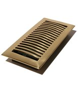 Decor Grates HSL410 4-Inch by 10-Inch Louvered Floor Register, Solid Brass - $15.19