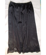 Vintage Adonna Black Half Slip size M-30 Scallo... - $13.86