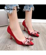 Cresfimix femmes hauts talons women 2018 fashion red high heel shoes lad... - $65.28+
