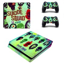 Suicide squad ps4 slim skin decal for console and controllers - $15.00