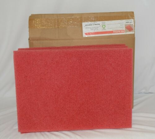 Tri Lateral Sales 40441420 Red Rectangle Buffing Pad 14 By 20 Inches 5 Pack