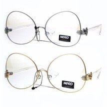 Nerd Clear Lens Metal Rim Butterfly Swan Drop Temple Eye Glasses - $12.95