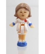 1990 Vintage Polly Pocket Doll Figure Polly's Hair Salon - Pixie Bluebir... - $7.50