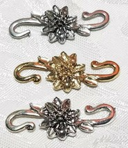 FLOWER S HOOK FINE PEWTER TOGGLE - 15x38x5mm